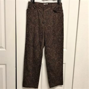 Jones New York Paisley Pants Size 12 Stretch